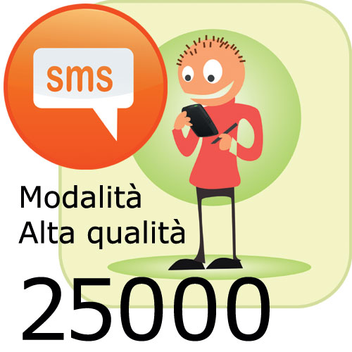 Pacchetto 25000 SMS